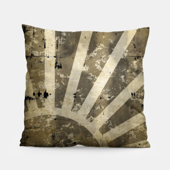 Thumbnail image of grungy sunrise Pillow, Live Heroes