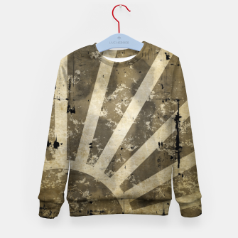 Thumbnail image of grungy sunrise Kid's sweater, Live Heroes