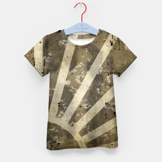 Thumbnail image of grungy sunrise Kid's t-shirt, Live Heroes