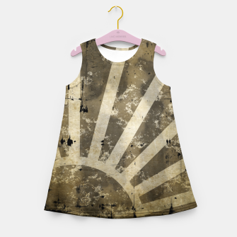 Thumbnail image of grungy sunrise Girl's summer dress, Live Heroes