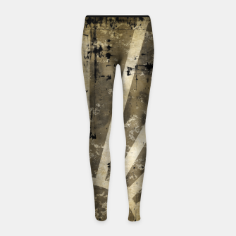 Thumbnail image of grungy sunrise Girl's leggings, Live Heroes