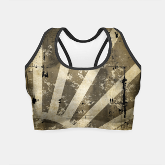 Thumbnail image of grungy sunrise Crop Top, Live Heroes