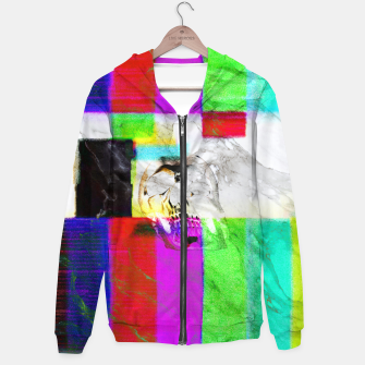 Thumbnail image of vhskull Cotton zip up hoodie, Live Heroes