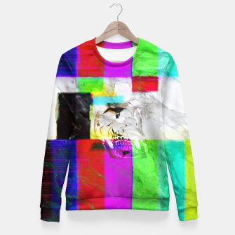 Thumbnail image of vhskull Woman cotton sweater, Live Heroes