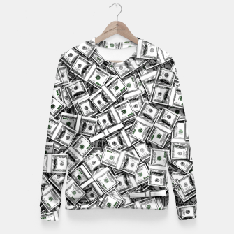 Thumbnail image of Like a Million Dollars Woman cotton sweater, Live Heroes