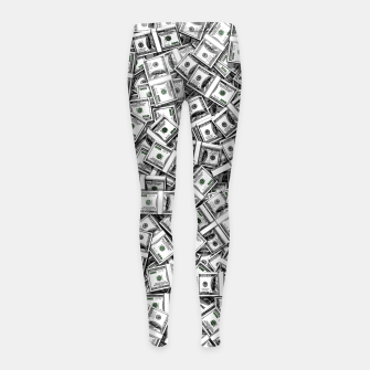 Thumbnail image of Like a Million Dollars Girl's leggings, Live Heroes
