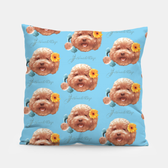 Thumbnail image of Toy Poodle Pillow, Live Heroes