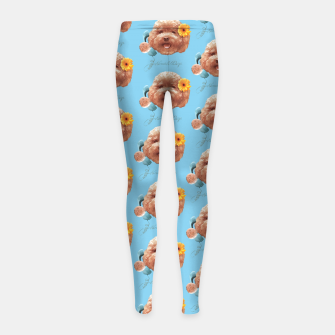 Thumbnail image of Toy Poodle Girl's leggings, Live Heroes