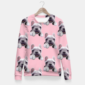 French Bulldog Woman cotton sweater imagen en miniatura