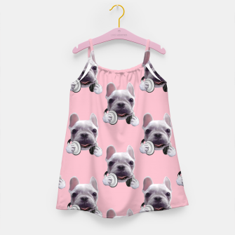 French Bulldog Girl's dress imagen en miniatura