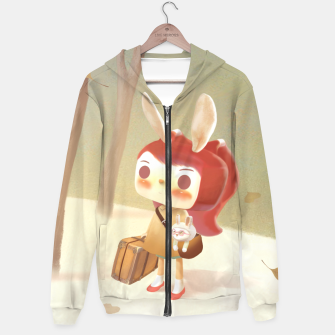 Thumbnail image of Lost Cotton zip up hoodie, Live Heroes