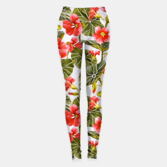 Thumbnail image of Nasturtiums watercolor Leggings, Live Heroes