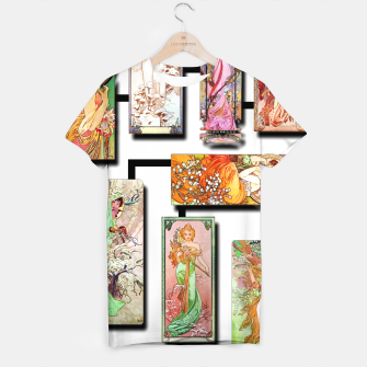 Thumbnail image of Alphonse Mucha Collage 01 T-shirt, Live Heroes