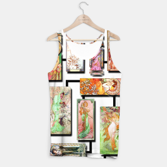 Thumbnail image of Alphonse Mucha Collage 01 Tank Top, Live Heroes