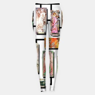 Thumbnail image of Alphonse Mucha Collage 01 Leggings, Live Heroes