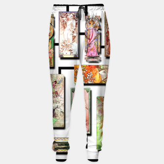 Thumbnail image of Alphonse Mucha Collage 01 Cotton sweatpants, Live Heroes