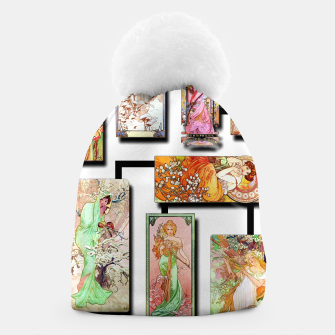 Thumbnail image of Alphonse Mucha Collage 01 Beanie, Live Heroes