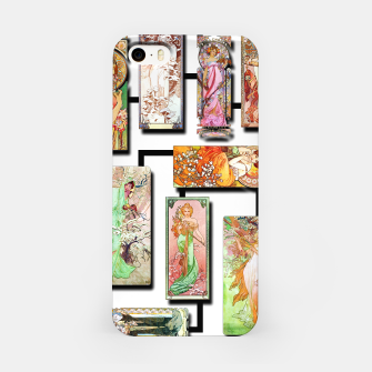 Thumbnail image of Alphonse Mucha Collage 01 iPhone Case, Live Heroes