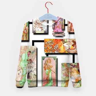 Thumbnail image of Alphonse Mucha Collage 01 Kid's sweater, Live Heroes
