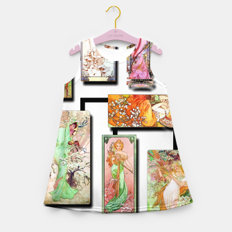 Thumbnail image of Alphonse Mucha Collage 01 Girl's summer dress, Live Heroes