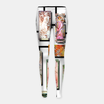Thumbnail image of Alphonse Mucha Collage 01 Girl's leggings, Live Heroes