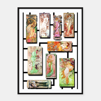 Thumbnail image of Alphonse Mucha Collage 01 Framed poster, Live Heroes
