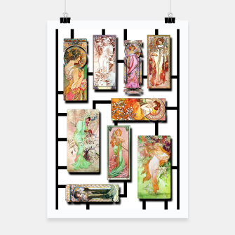 Thumbnail image of Alphonse Mucha Collage 01 Poster, Live Heroes