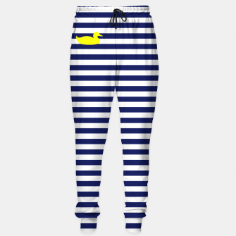 Thumbnail image of Blue and white duck sweats, Live Heroes