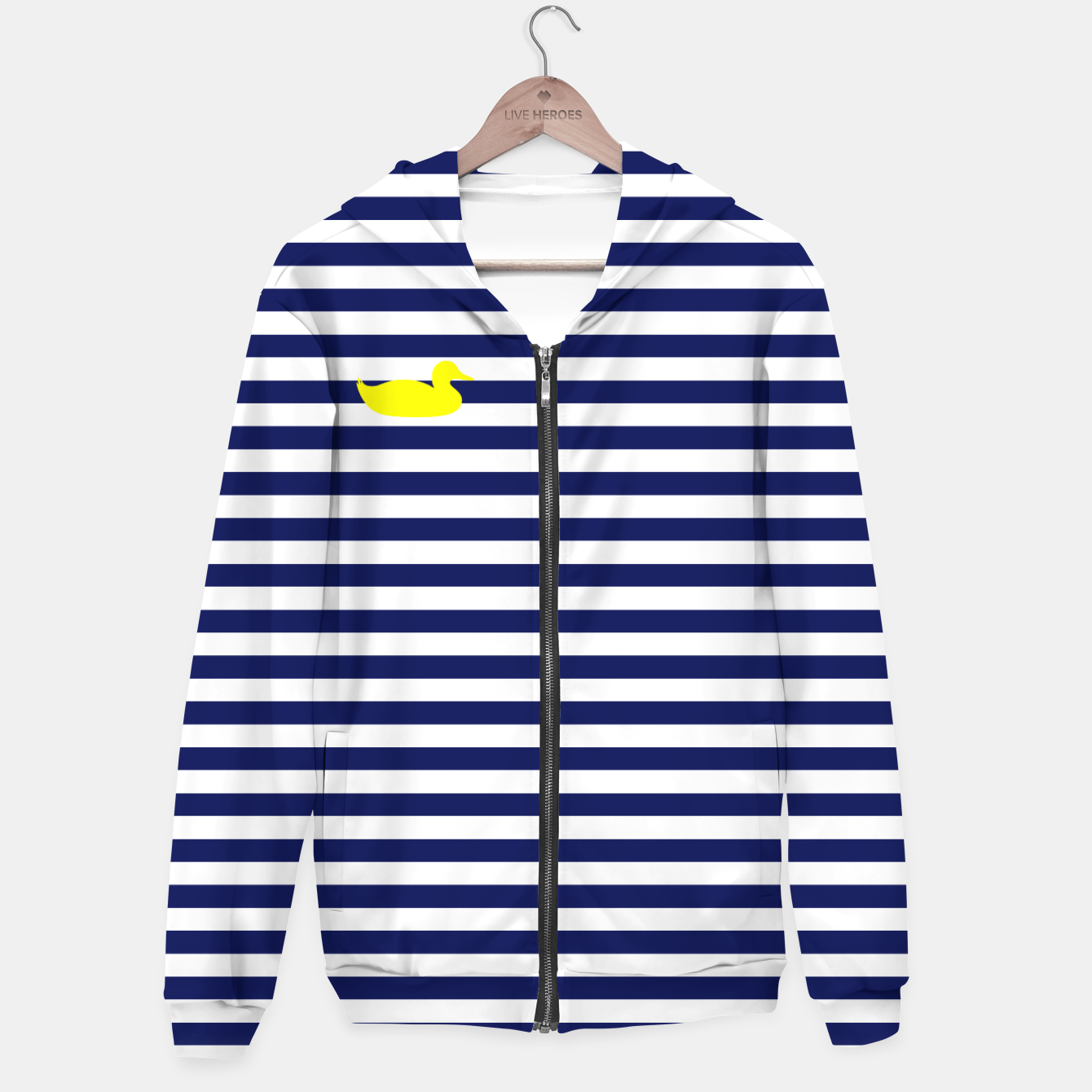 Image of Blue and white duck hoodie - Live Heroes