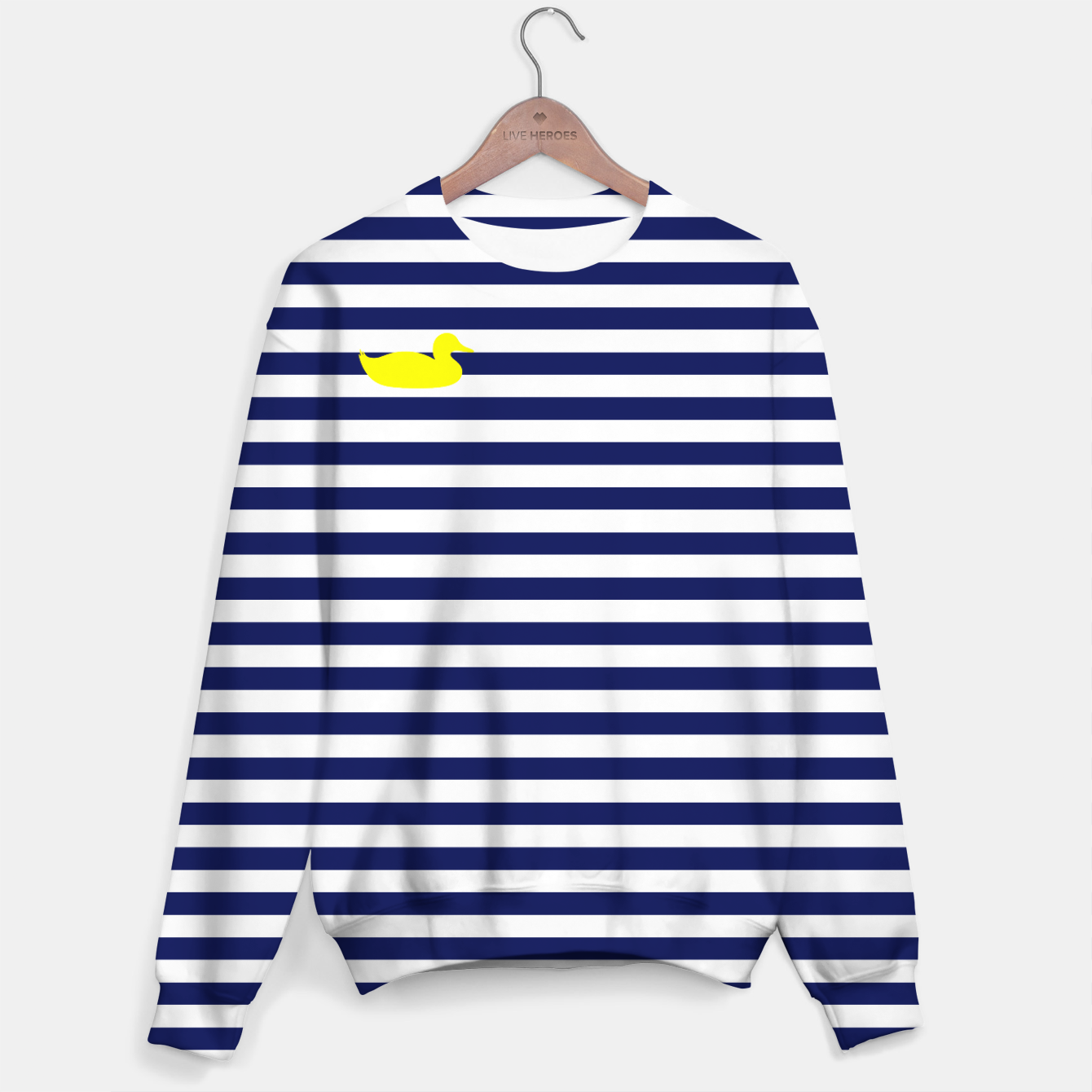 Image of Blue and white sweater - Live Heroes