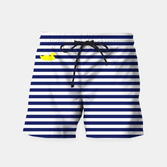 Thumbnail image of Blue and white swim shorts, Live Heroes