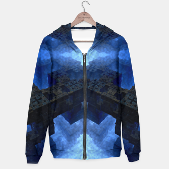 Thumbnail image of Dimensional Channel Cotton zip up hoodie, Live Heroes