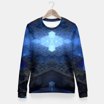 Thumbnail image of Dimensional Channel Woman cotton sweater, Live Heroes