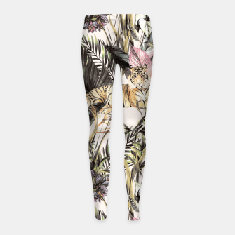 Thumbnail image of Tiger of the jungle 04 Leggings para niña, Live Heroes