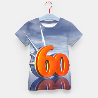 Miniaturka number sixty with metal spikes Kid's t-shirt, Live Heroes