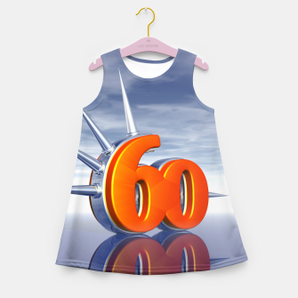 Miniaturka number sixty with metal spikes Girl's summer dress, Live Heroes