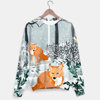 Thumbnail image of Fox Snow Walk Cotton sweater, Live Heroes
