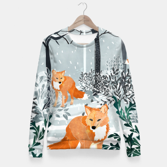 Thumbnail image of Fox Snow Walk Woman cotton sweater, Live Heroes