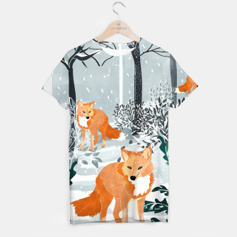 Thumbnail image of Fox Snow Walk T-shirt, Live Heroes