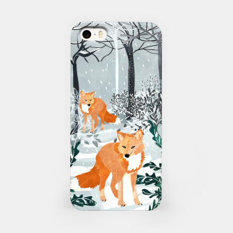 Thumbnail image of Fox Snow Walk iPhone Case, Live Heroes
