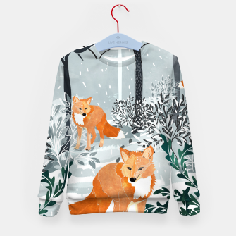 Thumbnail image of Fox Snow Walk Kid's sweater, Live Heroes