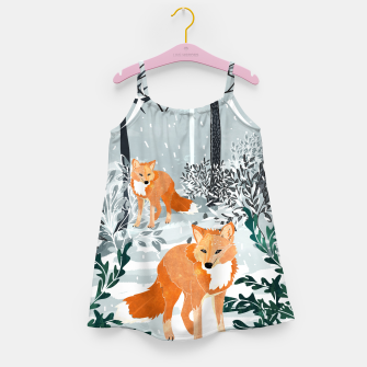 Thumbnail image of Fox Snow Walk Girl's dress, Live Heroes