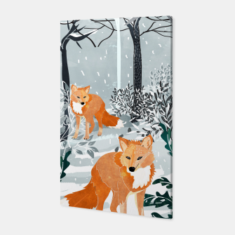 Thumbnail image of Fox Snow Walk Canvas, Live Heroes