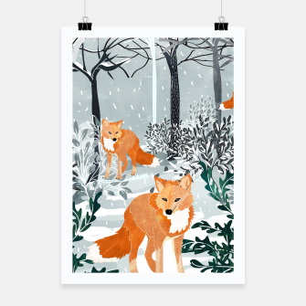 Thumbnail image of Fox Snow Walk Poster, Live Heroes