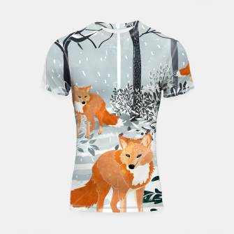 Thumbnail image of Fox Snow Walk Shortsleeve rashguard, Live Heroes