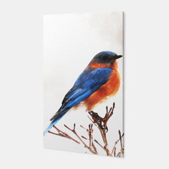Thumbnail image of Cute bird in winter Canvas, Live Heroes