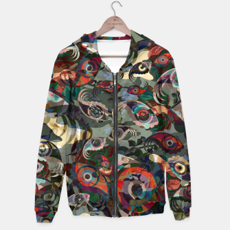 Thumbnail image of Collage LXXIII Cotton zip up hoodie, Live Heroes