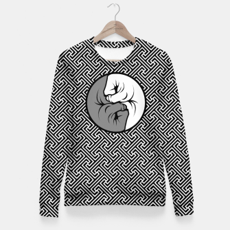 Thumbnail image of Way of the Fist Woman cotton sweater, Live Heroes