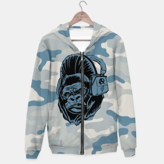 Thumbnail image of Collage LXXIV Cotton zip up hoodie, Live Heroes