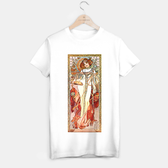 Thumbnail image of Alphonse-Mucha - L'Automne Vintage Art T-shirt regular, Live Heroes